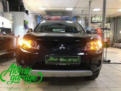 Mitsubishi Outlander XL, установка линз Bi-led Optima Pro - фото 13