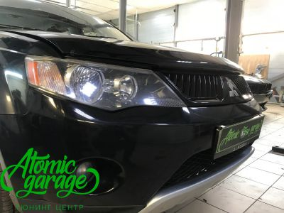 Mitsubishi Outlander XL, установка линз Bi-led Optima Pro - фото 2