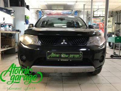 Mitsubishi Outlander XL, установка линз Bi-led Optima Pro - фото 1