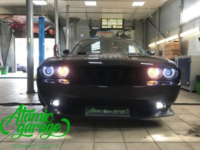 Dodge Challenger SRT8, замена линз на Bi-led Optima Pro + ремонт фар - фото 32