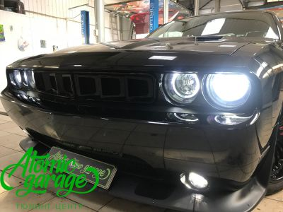 Dodge Challenger SRT8, замена линз на Bi-led Optima Pro + ремонт фар - фото 30