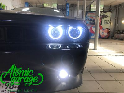 Dodge Challenger SRT8, замена линз на Bi-led Optima Pro + ремонт фар - фото 15