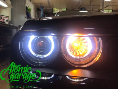 Dodge Challenger SRT8, замена линз на Bi-led Optima Pro + ремонт фар - фото 17