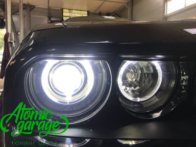 Dodge Challenger SRT8, замена линз на Bi-led Optima Pro + ремонт фар - фото 26
