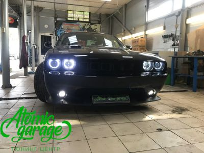 Dodge Challenger SRT8, замена линз на Bi-led Optima Pro + ремонт фар - фото 19