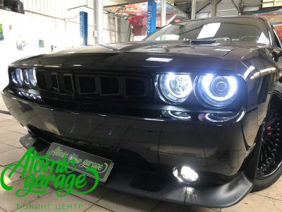 Dodge Challenger SRT8, замена линз на Bi-led Optima Pro + ремонт фар - фото 22