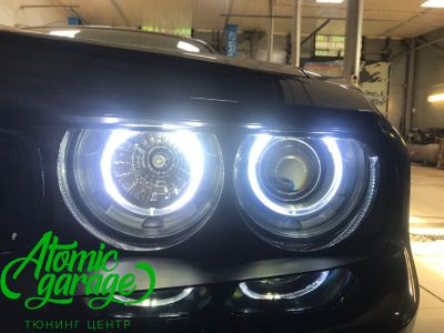 Dodge Challenger SRT8, замена линз на Bi-led Optima Pro + ремонт фар - фото 16