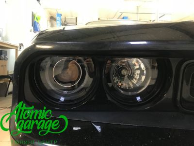Dodge Challenger SRT8, замена линз на Bi-led Optima Pro + ремонт фар - фото 18
