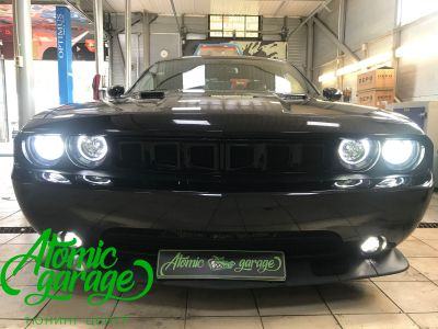 Dodge Challenger SRT8, замена линз на Bi-led Optima Pro + ремонт фар - фото 28