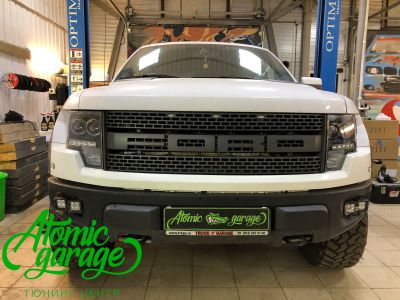 Ford F-150 Raptor, установка 4-х линз Bi-led Optima Adaptive - фото 14