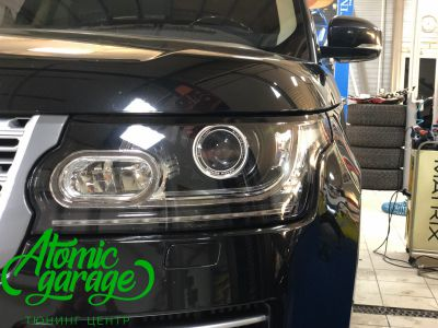 Range Rover 4 L405, замена линз на Bi-Led Optima Pro - фото 2