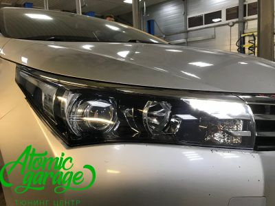 Toyota Corolla E180, установка линз Bi-led Optima Professional и Led ПТФ - фото 14