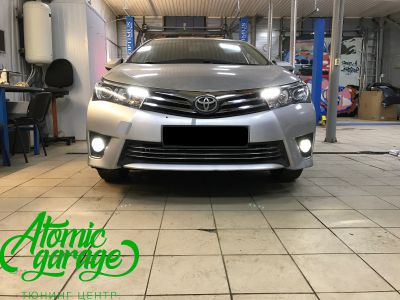 Toyota Corolla E180, установка линз Bi-led Optima Professional и Led ПТФ - фото 15