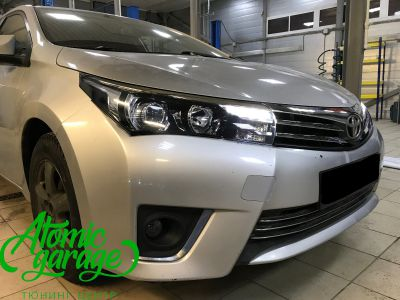 Toyota Corolla E180, установка линз Bi-led Optima Professional и Led ПТФ - фото 13