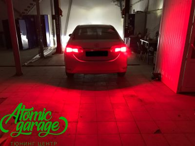 Toyota Corolla E180, установка линз Bi-led Optima Professional и Led ПТФ - фото 32