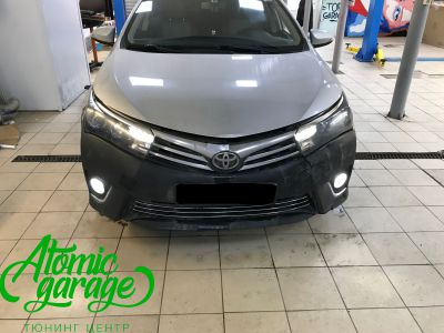Toyota Corolla E180, установка линз Bi-led Optima Professional и Led ПТФ - фото 4