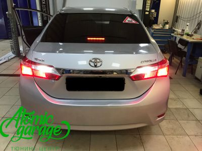 Toyota Corolla E180, установка линз Bi-led Optima Professional и Led ПТФ - фото 31
