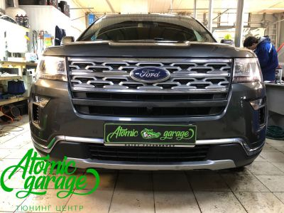 Ford Explorer 5 рестайлинг, линзы Bi-Led Optima Adaptive + Probright Base - фото 1