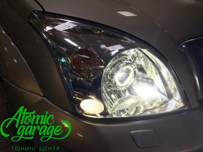 Toyota Land Cruiser Prado 120, установка линз Bi-led Optima Pro + Probright Alpha - фото 7