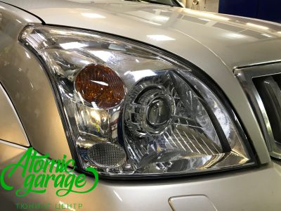 Toyota Land Cruiser Prado 120, установка линз Bi-led Optima Pro + Probright Alpha - фото 5