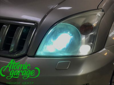 Toyota Land Cruiser Prado 120, установка линз Bi-led Optima Pro + Probright Alpha - фото 3