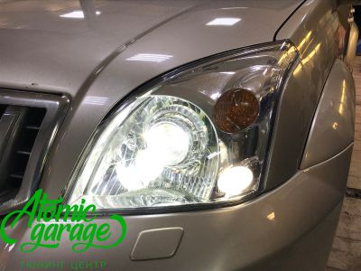 Toyota Land Cruiser Prado 120, установка линз Bi-led Optima Pro + Probright Alpha - фото 8