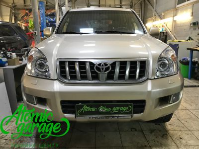 Toyota Land Cruiser Prado 120, установка линз Bi-led Optima Pro + Probright Alpha - фото 9