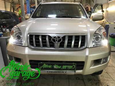Toyota Land Cruiser Prado 120, установка линз Bi-led Optima Pro + Probright Alpha - фото 11