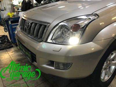 Toyota Land Cruiser Prado 120, установка линз Bi-led Optima Pro + Probright Alpha - фото 10
