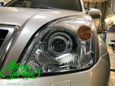 Toyota Land Cruiser Prado 120, установка линз Bi-led Optima Pro + Probright Alpha - фото 6