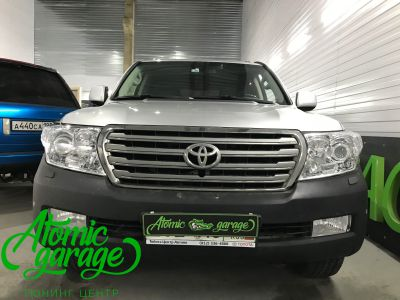 Toyota Land Cruiser 200, установка линз Bi-led Optima Pro + ДХО Vega Standart - фото 5