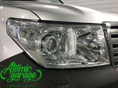 Toyota Land Cruiser 200, установка линз Bi-led Optima Pro + ДХО Vega Standart - фото 6