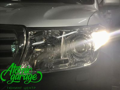 Toyota Land Cruiser 200, установка линз Bi-led Optima Pro + ДХО Vega Standart - фото 12