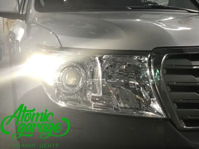 Toyota Land Cruiser 200, установка линз Bi-led Optima Pro + ДХО Vega Standart - фото 11