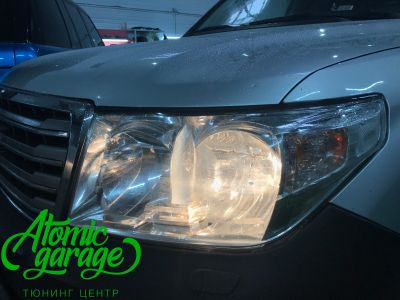 Toyota Land Cruiser 200, установка линз Bi-led Optima Pro + ДХО Vega Standart - фото 4