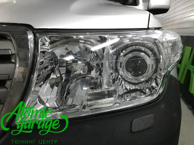 Toyota Land Cruiser 200, установка линз Bi-led Optima Pro + ДХО Vega Standart - фото 7