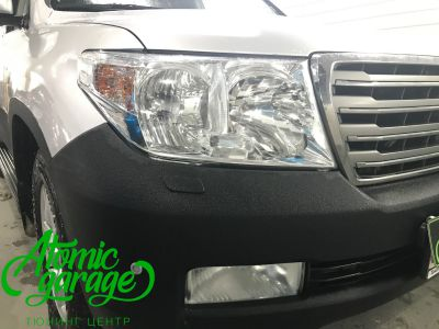 Toyota Land Cruiser 200, установка линз Bi-led Optima Pro + ДХО Vega Standart - фото 2