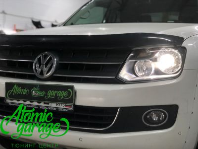 Volkswagen Amarok, установка линз Bi-led Optima Pro + лампы H15 - фото 8