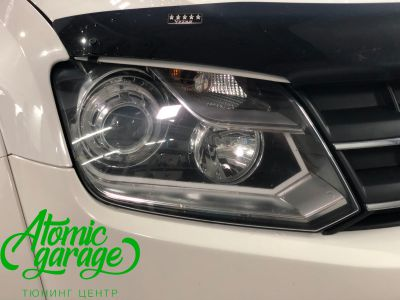 Volkswagen Amarok, установка линз Bi-led Optima Pro + лампы H15 - фото 2