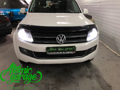 Volkswagen Amarok, установка линз Bi-led Optima Pro + лампы H15 - фото 1