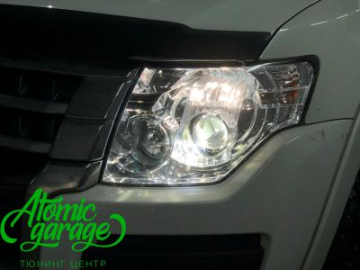 Mitsubishi Pajero 4, замена линз на Bi-led Optima Pro - фото 4