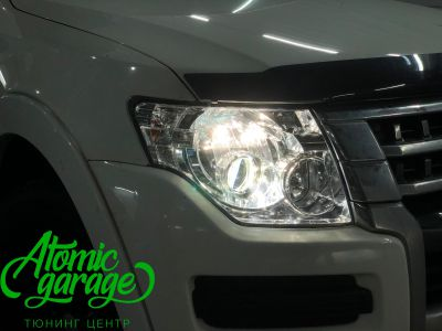 Mitsubishi Pajero 4, замена линз на Bi-led Optima Pro - фото 3