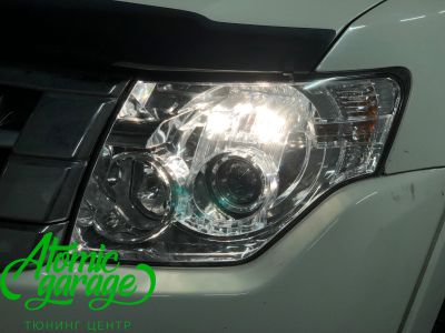 Mitsubishi Pajero 4, замена линз на Bi-led Optima Pro - фото 6