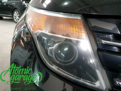 Ford Explorer 5, замена линз на Bi-Led Optima Professional - фото 4