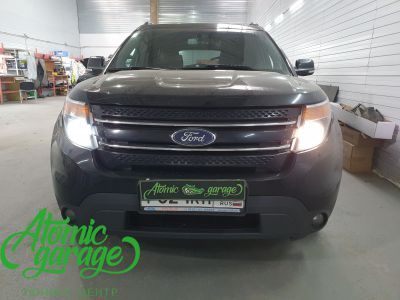Ford Explorer 5, замена линз на Bi-Led Optima Professional - фото 1