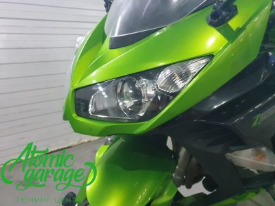 Мотоцикл Kawasaki Ninja z1000sx, установка линз Bi-Led Optima Adaptive - фото 4