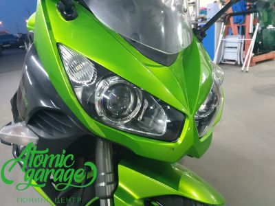 Мотоцикл Kawasaki Ninja z1000sx, установка линз Bi-Led Optima Adaptive - фото 5