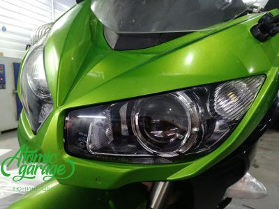 Мотоцикл Kawasaki Ninja z1000sx, установка линз Bi-Led Optima Adaptive - фото 7