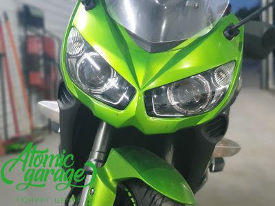 Мотоцикл Kawasaki Ninja z1000sx, установка линз Bi-Led Optima Adaptive - фото 6