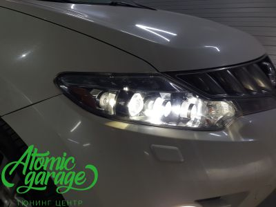 Nissan Murano Z51, замена линз на Bi-led Optima Pro - фото 10
